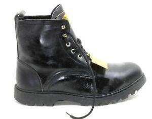 630 Bottes à Lacets Chaussures Basses Homme Bottines Cuir Noir Buffalo 46