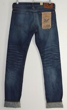 RRL RALPH LAUREN indigo blue JAPANESE Selvedge denim Slim Fit jeans 30 x 34