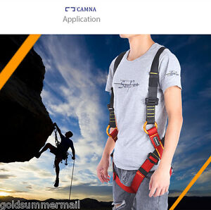 CAMNA Safety Rock Climbing Fall Protection Harness full Body Belt Equipment