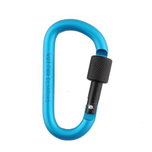 Carabiner 8cm D-Ring Locking Key Hook Snap For Camping Climbing Hiking New