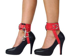 Bondage-High-Heel-Fesseln-High-Heels-Lederfesseln-High-Heel-Fixer-Rot-Nr-4202