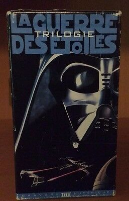 Rare Star Wars Trilogy  VHS 1995 in french with english labeling on cassettes