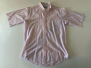 VTG-80s-LEVI-039-S-COLORGRAPHS-Pink-Striped-Short-Sleeve-Button-Front-Shirt-Medium