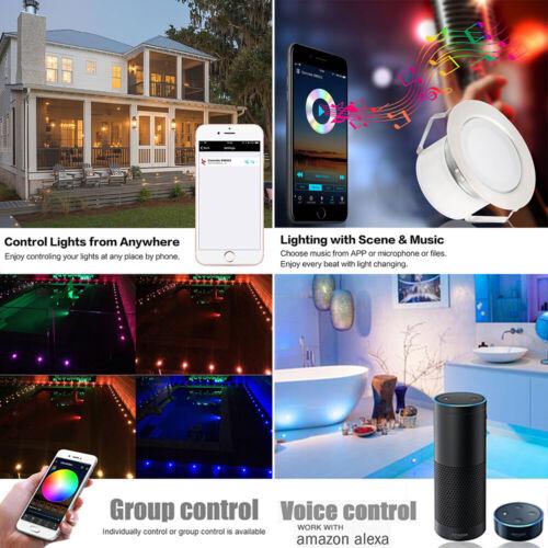 WIFI BT RGB//RGB+Warmweiß Boden Einbaustrahler LED Leuchte Außenlampe Minispot