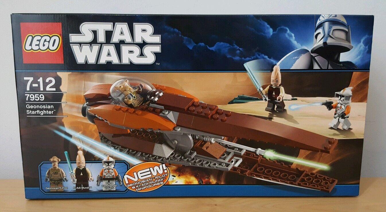 LEGO 7959 STAR WARS  GEONOSIAN STARFIGHTER NANTEX CLONE MINIFIGURES nouveau XMAS GIFT  prix raisonnable