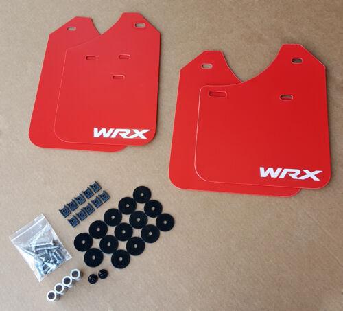 02-07 Mud Flaps Set RED w// Hardware Kit /& Custom Vinyl B SR