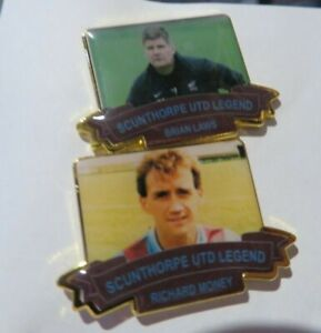 SCUNTHORPE UNITED LEGEND   LIMITED EDITION RICHARD MONEY OR BRIAN LAWS  BADGE