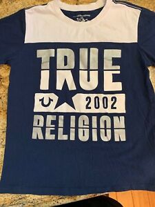 BOYS-TRUE-RELIGION-T-SHIRT-TOP-SIZE-LARGE-L-14-16-SHORT-SLEEVE-PERFECT-CONDITION