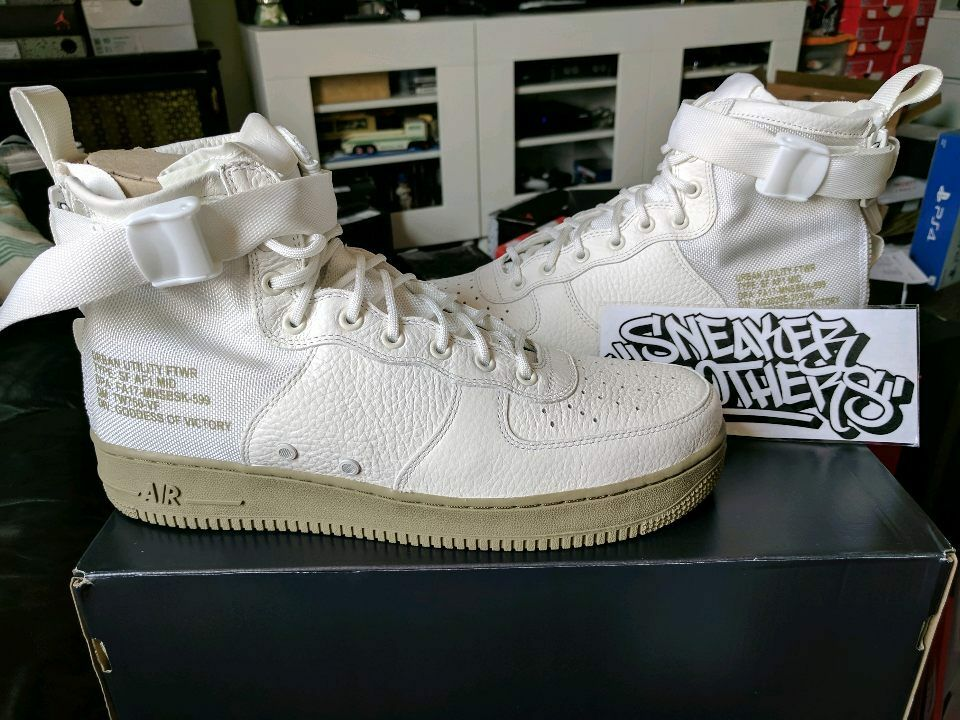 Nike SF AF1 Special Field Air Force 1 Mid Ivory Neutral Olive Cargo 917753-101