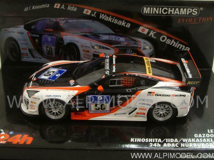 Lexus LFA Gazoo Nurburgring 2010 Kinoshita - Oshim 1 43 MINICHAMPS 437101650