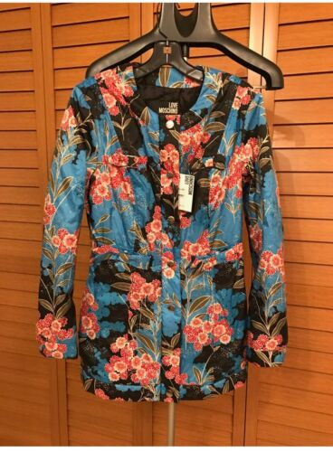 42 Print Brand Bow Detail Moschino 8055523190891 Floral Tags Jacket Taille New With Amour 8wx8PApq