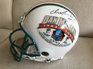new product aa099 b8c90 Details about Dan Marino Miami Dolphins Autographed Hall of Fame Pro Helmet  317/1313