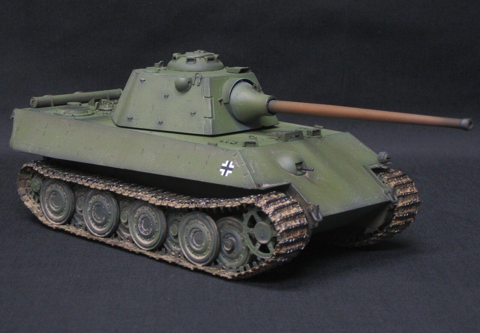 DRAGON PzV Ausf F PANTHER SCHMALTURM PRO BUILT AND PAINTED 1 35  TAMIYA ITALERI