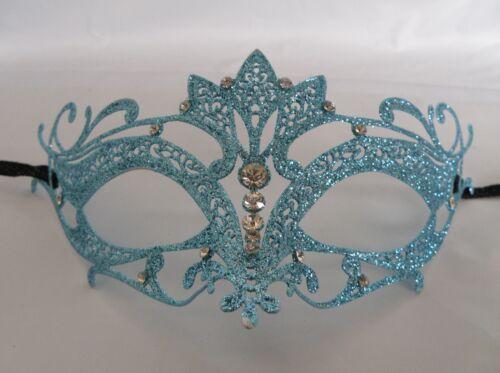 NEW Express Post Skyblue Filigree Metal Venetian Masquerade Party Mask No.2