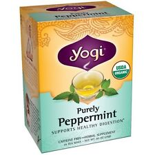 Yogi Herbal Tea Bags, Purely Peppermint 16 ea