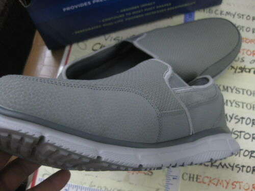 SKECHERS 59997S VERSE-COOL /& CALM MENS GREY COOL MESH//LEATHER SLIP-ON CASUAL