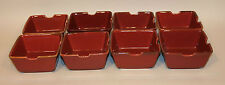 8 Pottery Barn Japan Asian Square Paprika Red 6 Inch Noodle Bowls