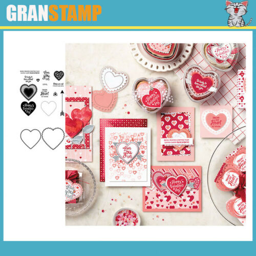 CH New Arrival Heart and Flowers Metal Cutting Dies and stamps Scrapbooking
