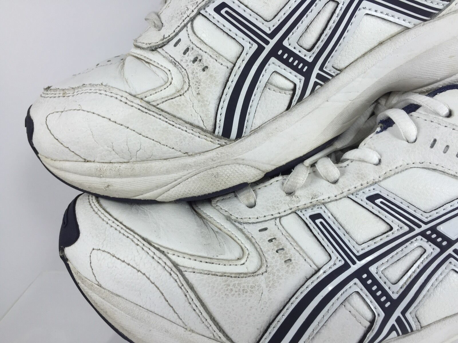 size 40 19420 28236 ... Gentlemen Ladies Asics Mens White Walking Shoes 7.5 Exquisite (middle)  (middle) ...