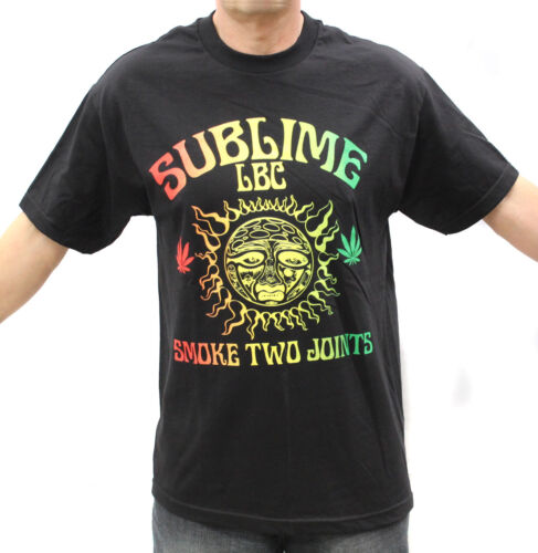 Sublime Rock Band Rasta Sun Embroidered Graphic T-Shirts