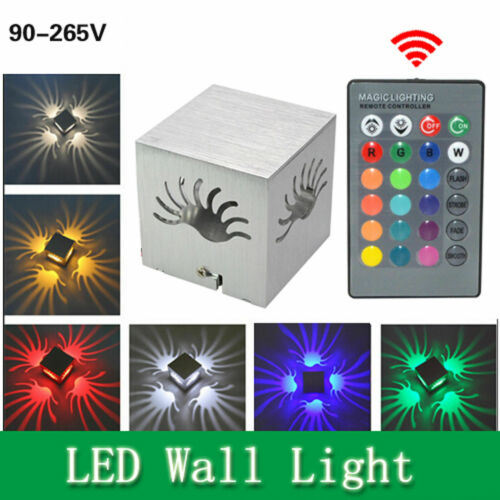 Fashion LED Square Wall Light Sconces Lamp Decor Fixture Porch Walkway Bedroom