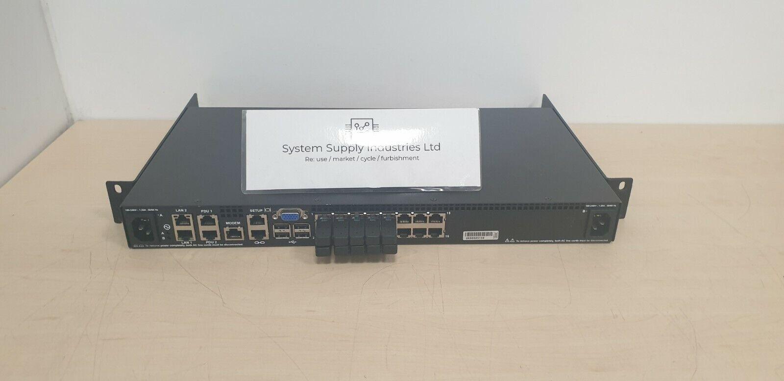 IBM 1754-HC1 - KVM Console Manager - 16 Ports + 10 RJ45 Terminators