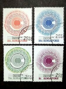 Singapore-1983-Commonwealth-Day-Complete-Set-4v-Used-1