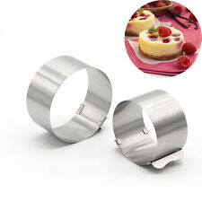 Stainless Steel Retractable Mousse Ring Cake Mould Mold Baking Tool