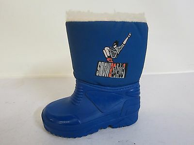 BOYS BLUE THERMAL WELLINGTONS WITH MAN SNOWBOARDING ON SIDE £4.99