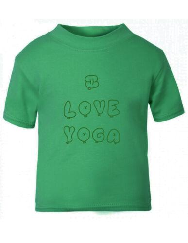 I Love Yoga Baby Toddler Kid T-shirt Tee 6mo Thru 7t