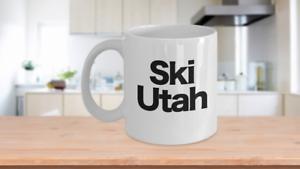 Ski-Utah-Mug-White-Coffee-Cup-Funny-Gift-Skier-Patrol-Bunny-Bum-Skys-Park-City