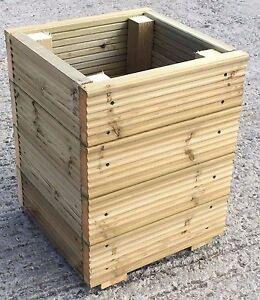 Image Is Loading Large Square Decking Wooden Garden Planter Storage Box