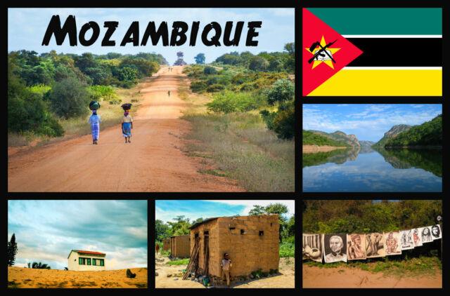 Mozambique, África - Recuerdo Novedad Nevera Imán - Monumentos/Bandera/Regalos