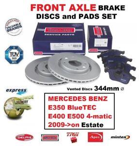FRONT BRAKE PADS +DISCS for MERCEDES E350 BlueTEC E400 E500 4matic Estate 2009->