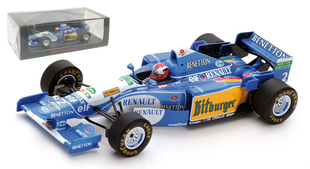SPARK s4776 Benetton b195  2 Winner British GP 1995-Johnny Herbert 1 43 Scale