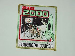 Never-Sewn-BSA-Boy-Scouts-Longhorn-Council-Space-2000-Cub-Scout-Day-Camp-Patch