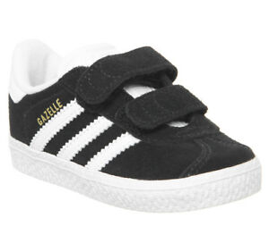huge discount 955f6 8fb49 Image is loading Kids-Adidas-Gazelle-2-Infant-Trainers-Core-Black-