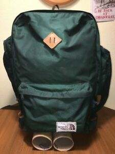 27de94423 Details about The North Face TNF Brown Label Vintage Backpack Pack Green  Nylon