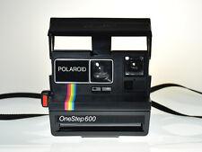 Vintage Rainbow Stripe Polaroid OneStep 600 Land Camera in Original Box & Papers