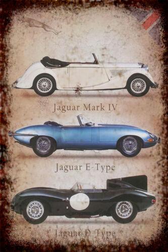 Jag Collage Retro Repro Metal Decor  Sign