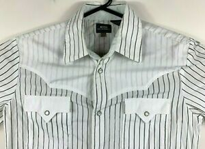 G-Star-Men-039-s-Shirt-039-TRUCKER-PAINT-SHIRT-L-S-039-White-Size-L-Pinstripe-RRP-189