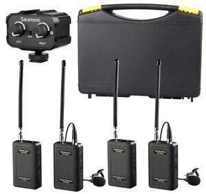 Saramonic-Wireless-VHF-Dual-Lavalier-Microphone-System-amp-Mixer-for-DSLR-Cameras