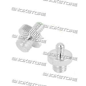 Adpter-Steel-Schraube-1-4-To-3-8-For-Stativ-Heads-fuer-Stativ-Schraube-in-Stahl-T