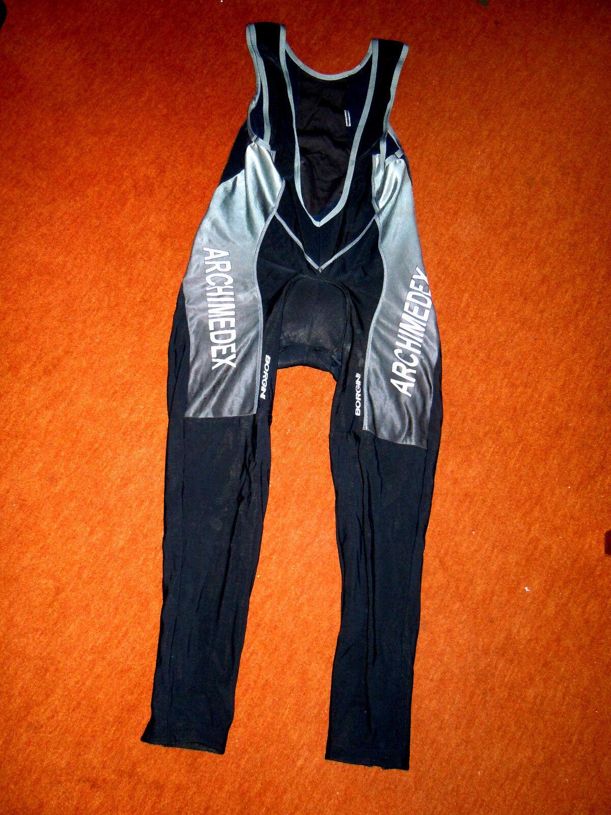 Lange warme warme warme Radsporthose v.BORGINI Gr.L, Top-Design, Bein-Reißverschlüsse, Mesh 9c95c6