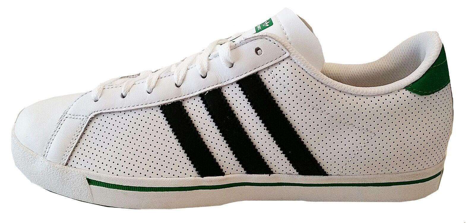 Adidas homme Vertstar trainer Chaussure Q23030 blanc/vert/noir cuir taille 10uk neuf