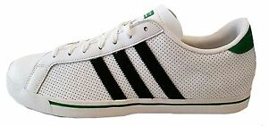Image is loading Adidas-Mens-Greenstar-Trainer-shoe-Q23030-White-Green- c95d600fc