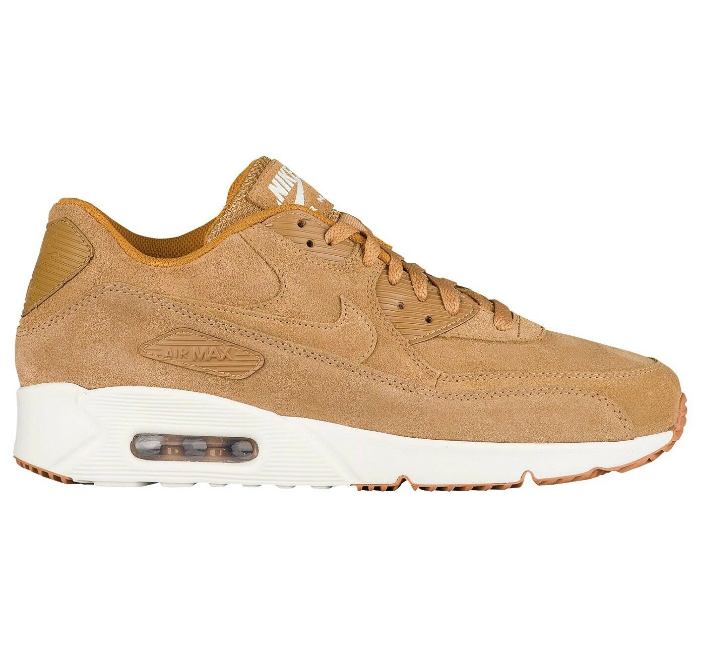 Nike Air Max 90 Ultra 2.0 Mens 824447-200 Flax Gum Brown Running Shoes Size 8