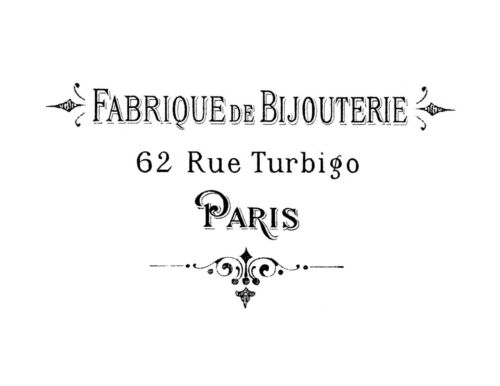 Vintage Typography Advert  FRENCH  FABRIQUE shabby chic transfer//sticker