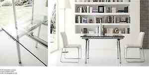 tavolo moderno design tavolo da pranzo piano vetro struttura cromo