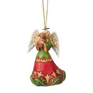 Jim Shore Christmas Angel Loving Puppy Dog Ornament Stone ...
